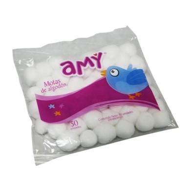 Motas de Algodón Amy 50 Und