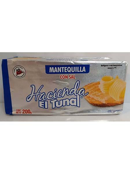 Mantequilla Hacienda el Tunal 200 gr