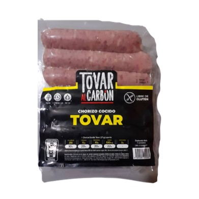 Chorizo Cocido Tovar al Carbón 7 unidades