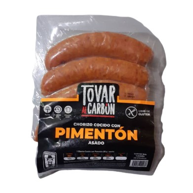 Chorizo Con Pimentón Tovar al Carbón 5 unidades