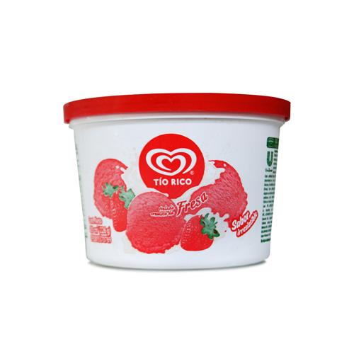Helado tio rico sabor a fresa 435 ml