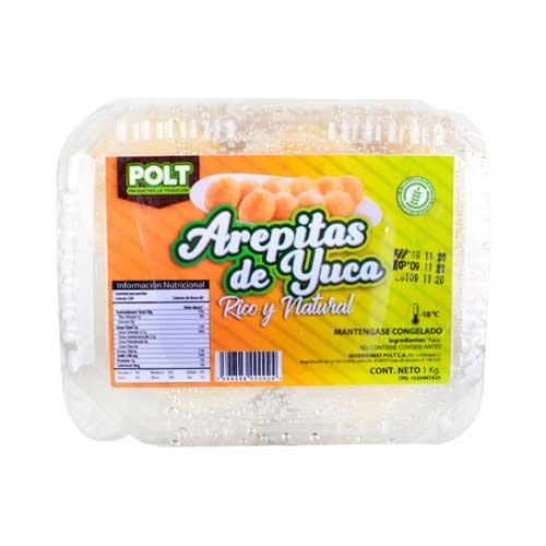 Arepitas de Yuca Natural Polt Libre de Gluten 1 kg